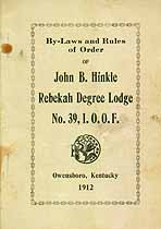 Thumbnail image of Rebekah Degree Lodge No. 39, I.O.O.F. Members cover