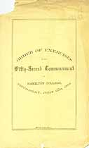 Thumbnail image of Hamilton College 1864 Commencement cover