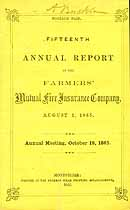 Thumbnail image of Farmers' Mutual Fire Ins. 1865 Report cover