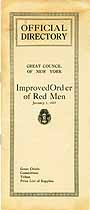 Thumbnail image of Improved Order of Red Men 1927 NY Directory cover