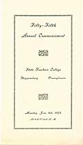 Thumbnail image of Shippensburg Teachers College 55th Commencement cover