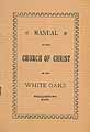 Thumbnail image of Manual of White Oaks Church of Christ cover