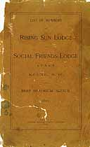 Thumbnail image of Rising Sun and Social Friends Lodge 1891 Members cover