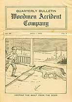 Thumbnail image of Woodmen Accident Bulletin 1922, Q1 Claims cover