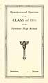 Thumbnail image of Belvidere High 1918 Commencement cover