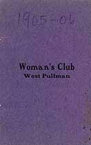 Thumbnail image of West Pullman Woman's Club 1905-1906 Directory cover