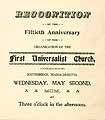 Thumbnail image of Southbridge First Universalist Church 50th Reunion cover