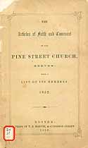 Thumbnail image of Pine Street Church 1852 Members cover