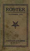 Thumbnail image of Sherman Chapter, No. 541, O. E. S., 1924 Roster cover