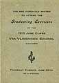 Thumbnail image of Van Vlissingen School 1913 Graduation cover