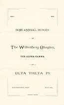 Thumbnail image of The Wittenberg Chapter 1889 Semi-Annual Report cover