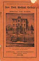 Thumbnail image of New York Medical College 1890-91 Announcement cover