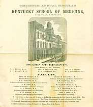 Thumbnail image of Kentucky School of Medicine 1868 Circular cover