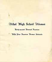 Thumbnail image of Athol High School 42nd Reunion cover