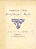Thumbnail image of South Eighth St. School 1915 Commencement cover