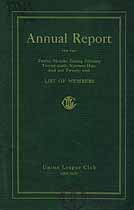Thumbnail image of Union League Club Annual Report for 1920 cover