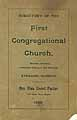 Thumbnail image of Sterling First Congregational Church Members cover