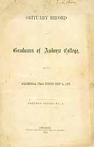 Thumbnail image of Amherst College 1870 Obituary Record cover