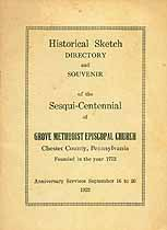 Thumbnail image of Historical Sketch of Grove Methodist Episcopal cover