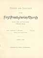 Thumbnail image of Portland First Presbyterian Church 1889 Directory cover