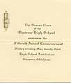 Thumbnail image of Shawnee High School 1913 Commencement cover