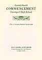 Thumbnail image of Davenport High School 1928 Commencement cover