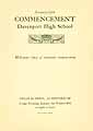 Thumbnail image of Davenport High School 1929 Commencement cover