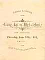 Thumbnail image of Young Ladies' High School 1887 Exercises cover