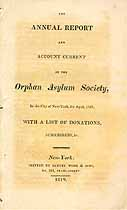 Thumbnail image of New York Orphan Asylum Society 1819 Report cover