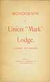 Thumbnail image of Monograph of Union 'Mark' Lodge cover