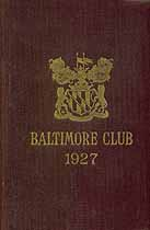 Thumbnail image of Baltimore Club Members for 1927 cover