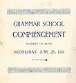 Thumbnail image of Grammer School 1901 Commencement cover