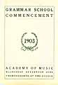 Thumbnail image of Grammer School 1903 Commencement cover