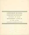 Thumbnail image of Grammer School 1904 Commencement cover