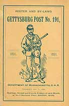 Thumbnail image of Gettysburg Post No. 191 Roster for 1891 cover
