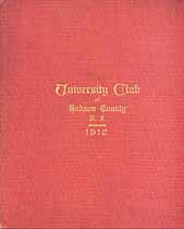 Thumbnail image of University Club of Hudson County, N.J. 1912 Year Book cover