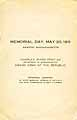 Thumbnail image of Memorial Day Parade Program, Newton, Mass. cover