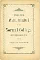 Thumbnail image of Huntingdon Normal College 1887 Catalogue cover