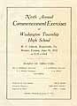 Thumbnail image of Washington Township High 1918 Commencement cover