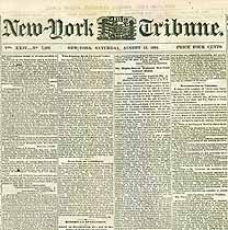 Thumbnail image of New York Tribune Deaths of Soldiers August 1864 cover