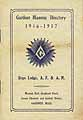 Thumbnail image of Gardner Masonic Directory 1916-1917 cover