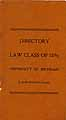 Thumbnail image of University of Michigan 1896 Law Class Directory cover