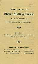 Thumbnail image of Stotlar Spelling Contest 1914 Program cover
