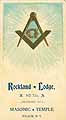 Thumbnail image of Rockland Lodge No. 723 Masonic Temple Member List cover