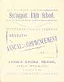 Thumbnail image of Springport High School 1889 Commencement cover