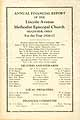 Thumbnail image of Lincoln Ave Methodist Episcopal Church Annual Report cover