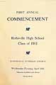 Thumbnail image of Rothsville High 1911 Commencement cover