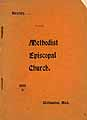 Thumbnail image of Williamston Methodist Episcopal Church Directory cover