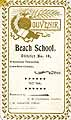 Thumbnail image of Beach School No. 10, '97-'98 Souvenir cover