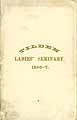 Thumbnail image of Tilden Ladies' Seminary 1867 Catalogue cover
